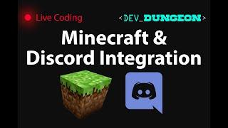 Live Coding: Minecraft & Discord integration, plugins, server mods (Day 3)