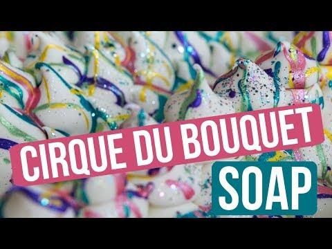 Cirque du Bouquet Soap ( Mica Drizzle Technique) | Royalty Soaps