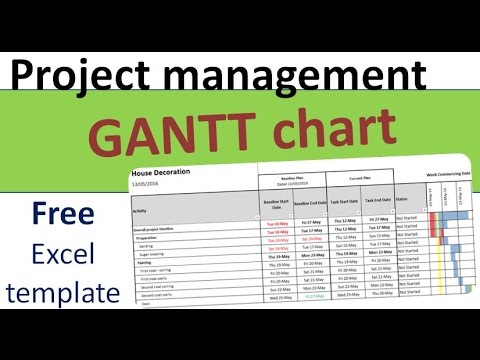 Free Project Planning Gantt Template In Excel Youtube