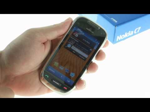 Nokia C7 unboxing and UI demo video