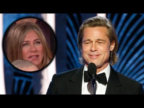 Jennifer Aniston REACTS to Brad Pitt's Speech at 2020 Golden Globes