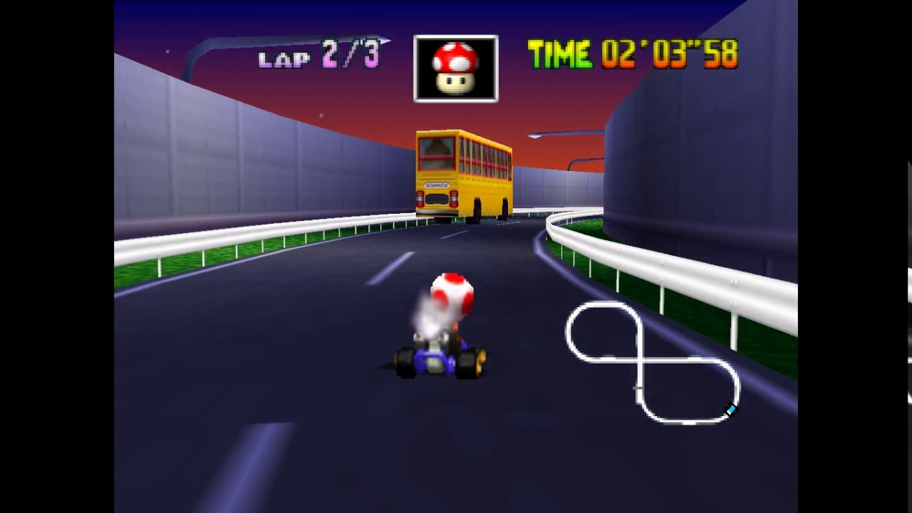 Mario Kart 64 Toad S Turnpike Time Trial Youtube