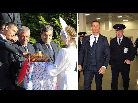 Cristiano Ronaldo arrive in Russia for World Cup 2018