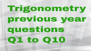 ssc trigonometry previous year question 1 to 10
