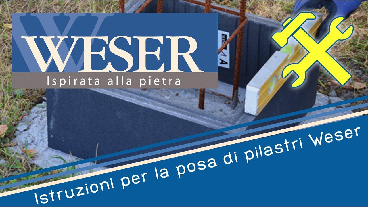 Prezzo Del Ferro Per Edilizia istruzioni per la posa di pilastri weser
