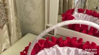 Украшение свадебных корзин своими руками