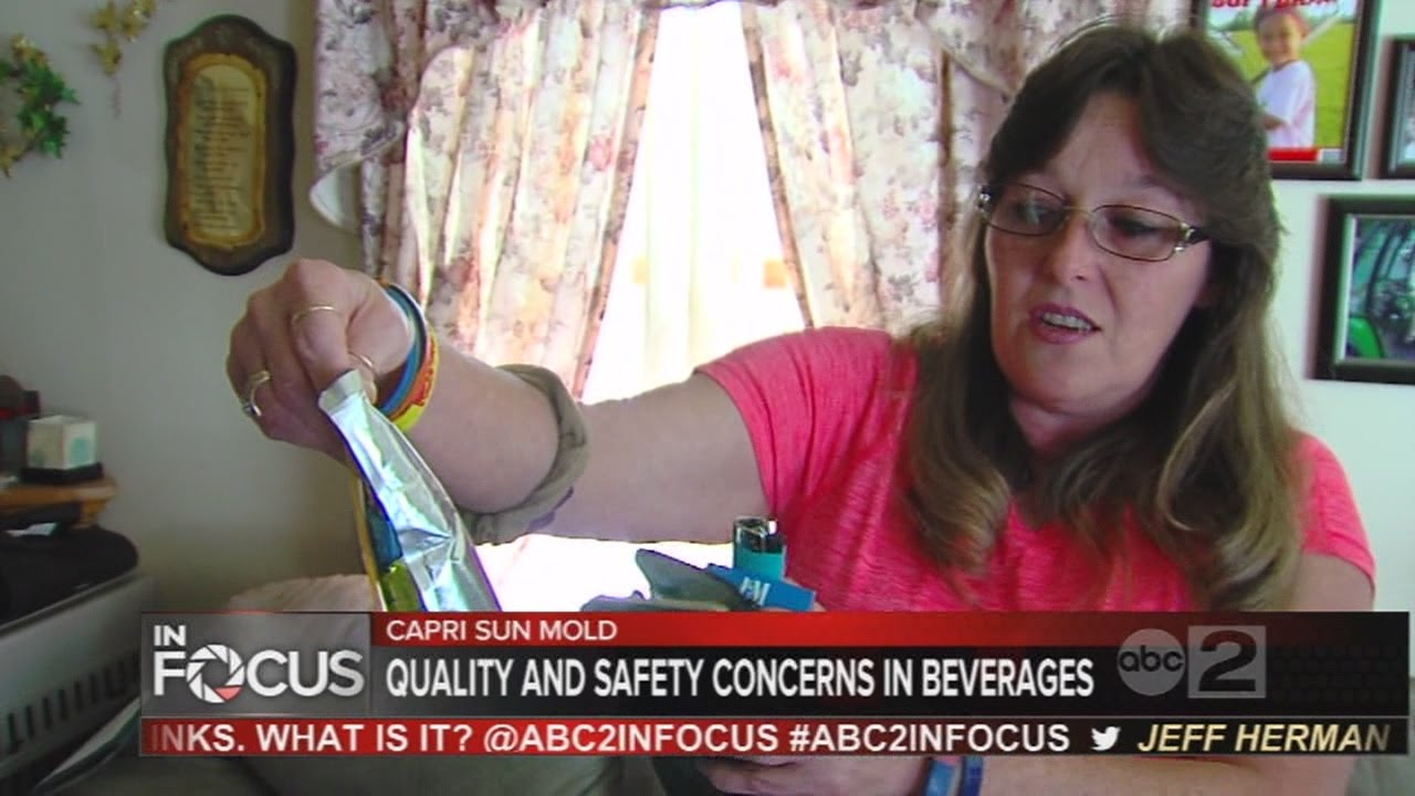 family finds mold in capri sun drink, company calls it 'extremely