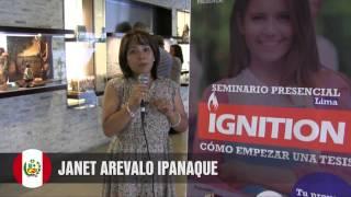 Janet Mercedes Arévalo Ipanaqué | Seminario IGNITION en Lima