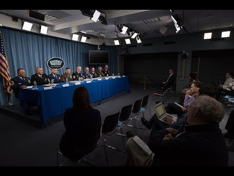 Senior Enlisted Leaders from the U.S. Combatant Commands Brief Pentagon Reporters