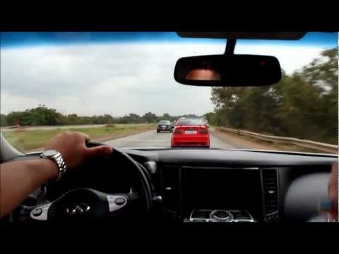 Brutal 370z acceleration and BMW 328 Close call (Accra Ghana)