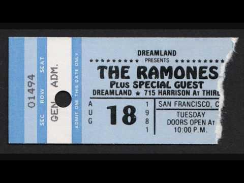 Ramones - Dreamland (San Francisco, California 18-8-1981)