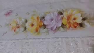 Pintura em Tecido – Aprenda Pintar Rosa Amarela, Borboleta e Folhas
