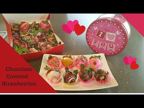 Chocolate Covered Strawberries for Valentines