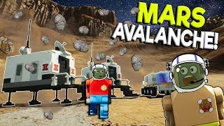LEGO MARS AVALANCHE SURVIVAL MISSION! -  Brick Rigs Gameplay Challenge - Lego Space Roleplay