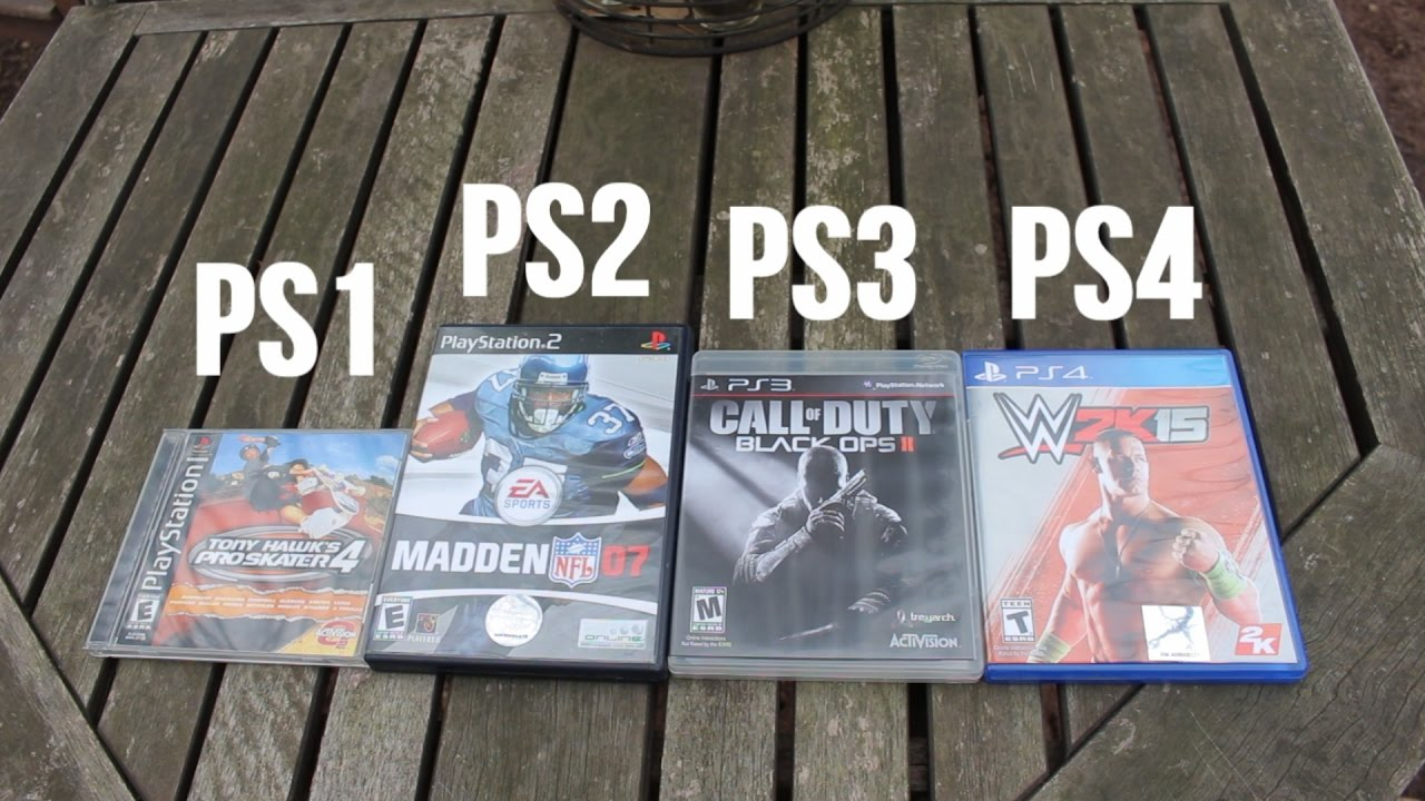 PS1 VS PS2 VS PS3 VS PS4 GAME COVERS! (COMPARISON) - YouTube