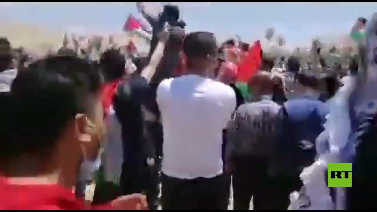 آلاف الأردنيين يحتشدون قرب الحدود مع فلسطين  - نشر قبل 2 ساعة