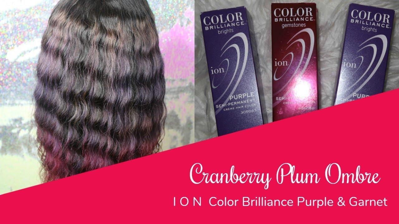 Ion Color Brilliance Purple Garnet Ombre Youtube