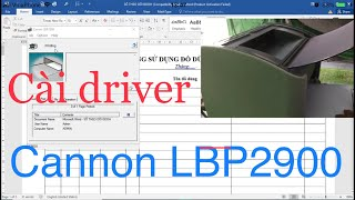 Cách cài driver máy in Cannon 2900 | Pistol channel
