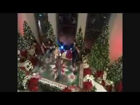 Carrie Underwood performing Christmas songs