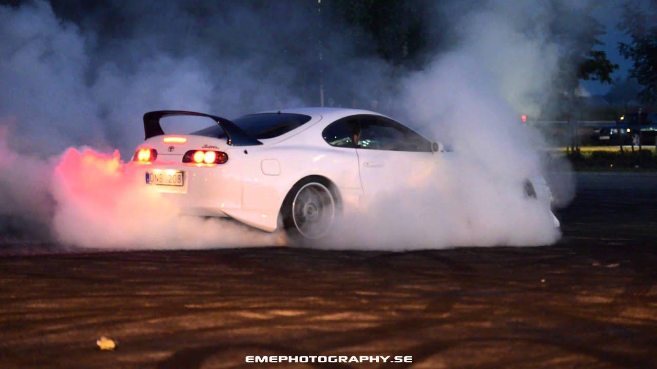 Toyota Supra Quiet Burnout V 228 Ster 229 Str 228 Ffen 2 2015 Youtube