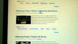 How to download Samsung Corby 2 Themes