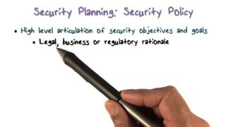 Security Planning  Security Policy