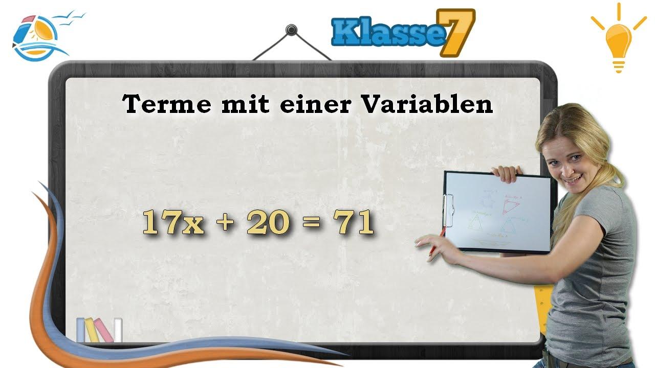 Download Terme mit einer Variablen || Gleichungen - Klasse 7 ★ Wissen