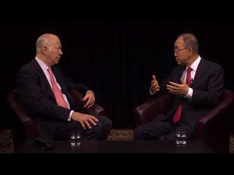 David Gergen with Ban Ki-moon (United Nations Secretary-General, 2007-2016) on YouTube