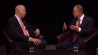 David Gergen with Ban Ki-moon (United Nations Secretary-General, 2007-2016)