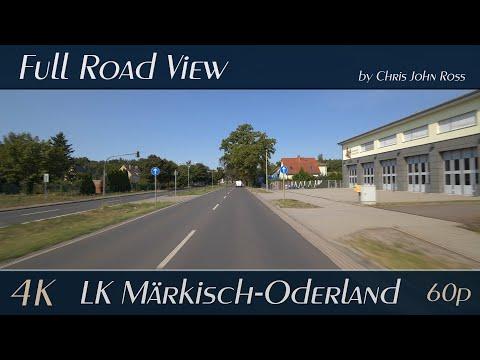 Landkreis Märkisch-Oderland, Germany: Fredersdorf-Vogelsdorf, Bundesstraße (B1) - 4K (UHD/2160p/60p)