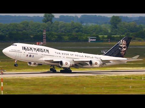 IRON MAIDEN Boeing 747 Arrival and Departure at Düsseldorf