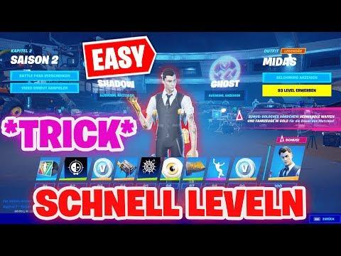 SEASON 2 Battle Pass LEVEL 100 *TRICK* | Level 100 SCHNELL Erreichen! | Fortnite Season 2