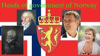 Heads of government of Norway