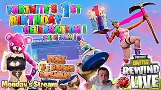 🎈 1ST Birthday Hype ! 💰 GIFTING is Nigh ! 💰 V-BUCKS Giveaway ! ► Fortnite Battle Royale 🔴 Live RW