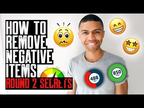HOW TO REMOVE NEGATIVE ITEMS ROUND 2 SECRETS || CREDIT REPAIR