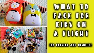 WHAT TO PACK ON A FLIGHT WITH KIDS: KIDS CARRY ON LUGGAGE IDEAS - DISNEY EDITION!