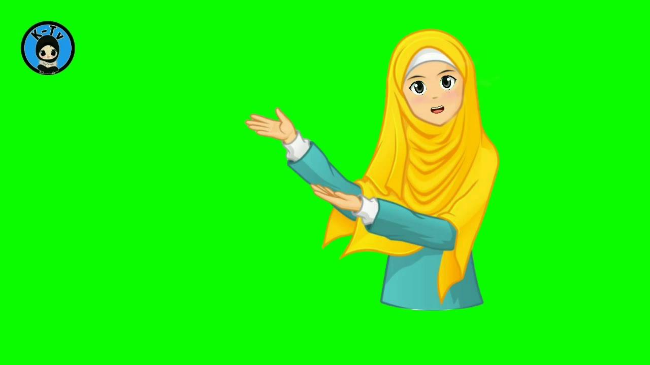 Green Screen Animasi Kartun Muslimah Animasi Berhijab Youtube
