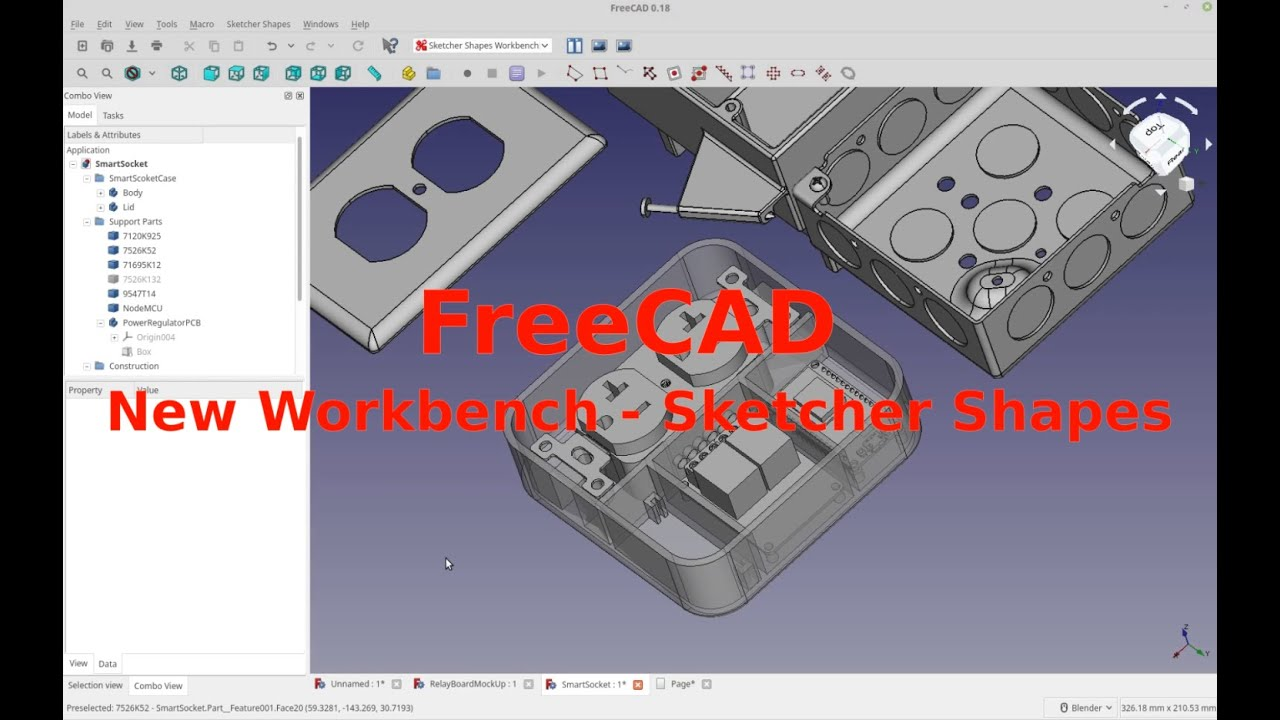 FreeCAD - My Crappy Workbench - Sketcher Shapes