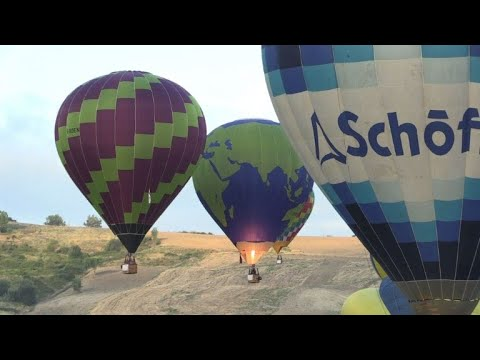 Hot air balloon competition kicks off in Umbria