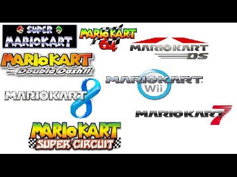 All mario karts main themes from Super mario kart till Mario kart 8