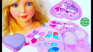 Deluxe Makeup Cosmetic Set Glitter Lip Gloss Barbie Hair Salon My FunToysTv