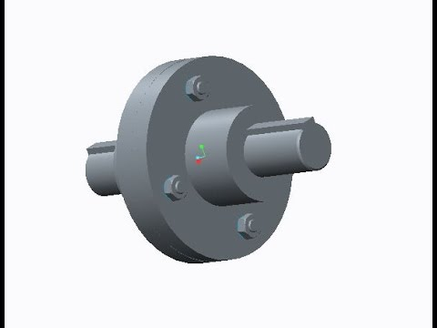 Flanged Coupling Assembly using Creo/ProE | Smart Drafter
