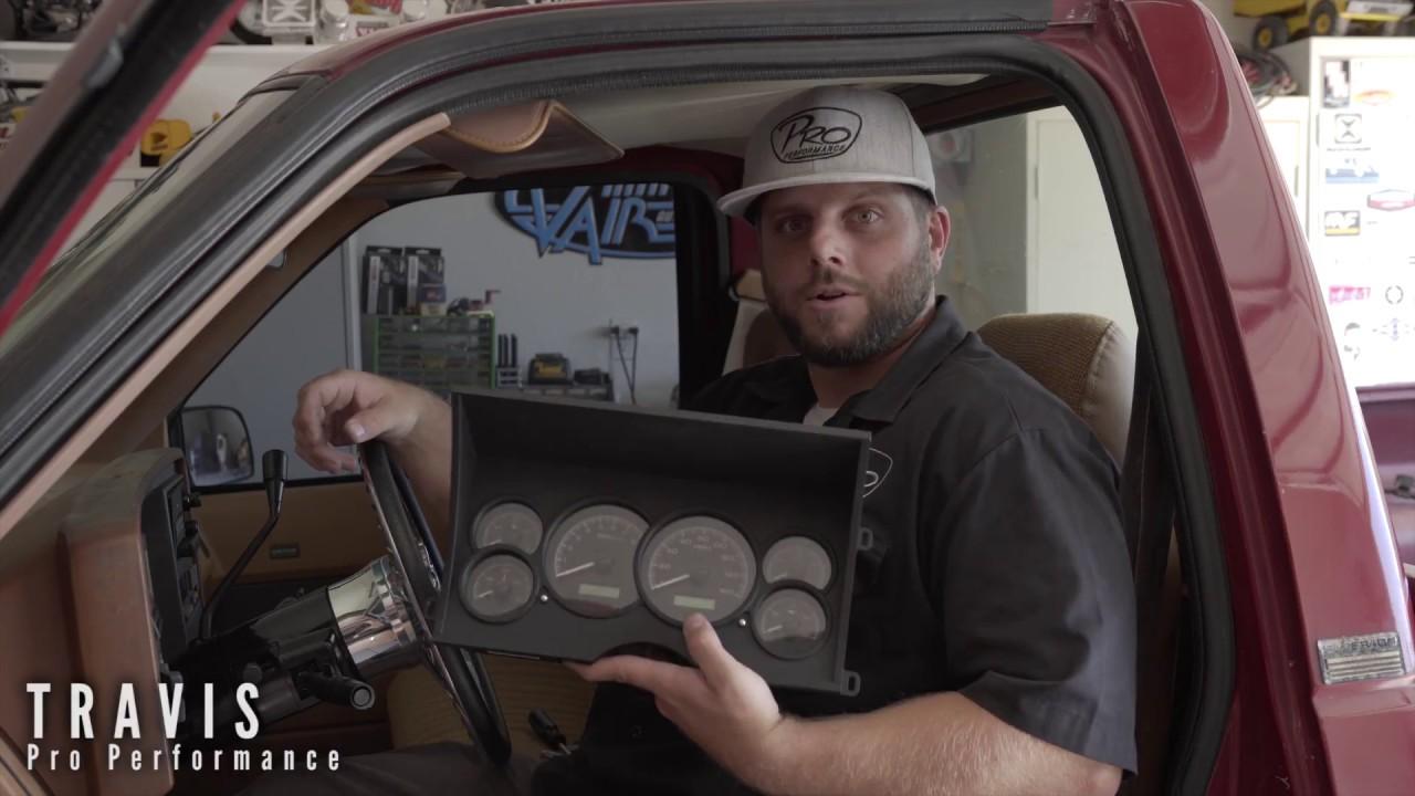 maxresdefault pro performance dakota digital gauge install 88 98 chevy truck youtube