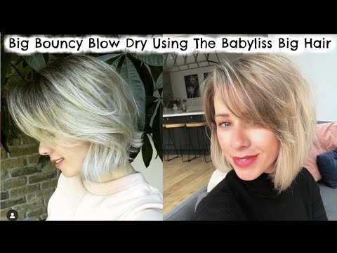 Big Bouncy Blowdry for short thin hair... Babyliss Big Hair...
