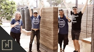 DIY Rammed Earth Wall For An Outdoor Shower!
