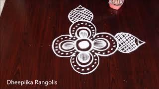 Beautifull freehand muggulu designs l small daily kolam designs without dots l rangoli design