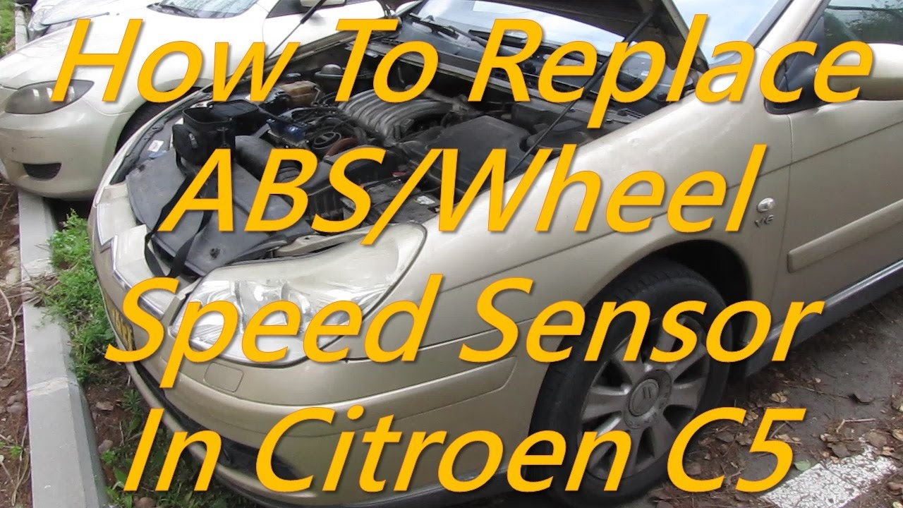 citroen c5 how to replace abs wheel speed sensor [ 1280 x 720 Pixel ]