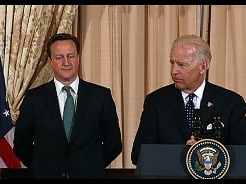 Vice President Biden Honors Prime Minister Cameron