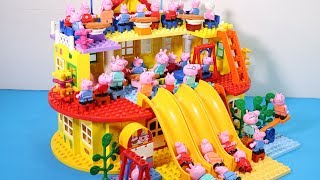 Lego House With Water Slide Building Toys - Lego Creations Toys For Kids