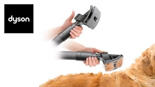 The Dyson groom tool in use- Official Dyson video